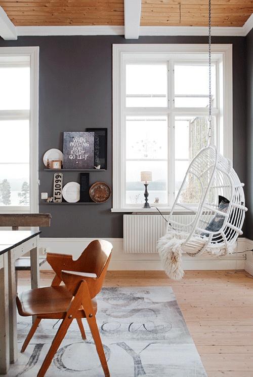 Witte Rieten Hangstoel.De Ei Vormige Hangstoel